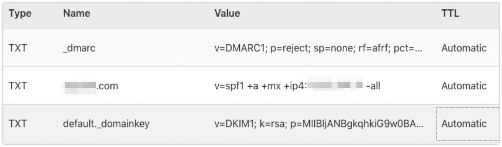 CloudFlare spf dmarc example