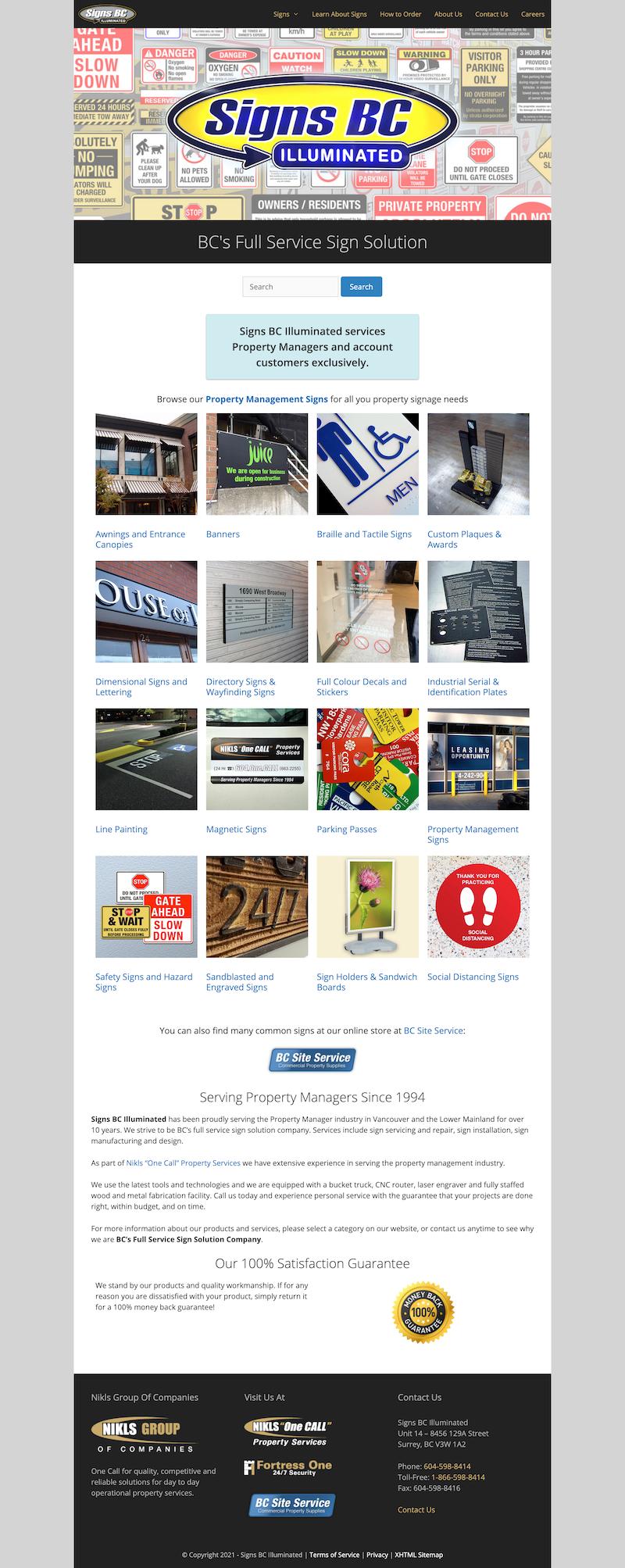 Sign Company Websites